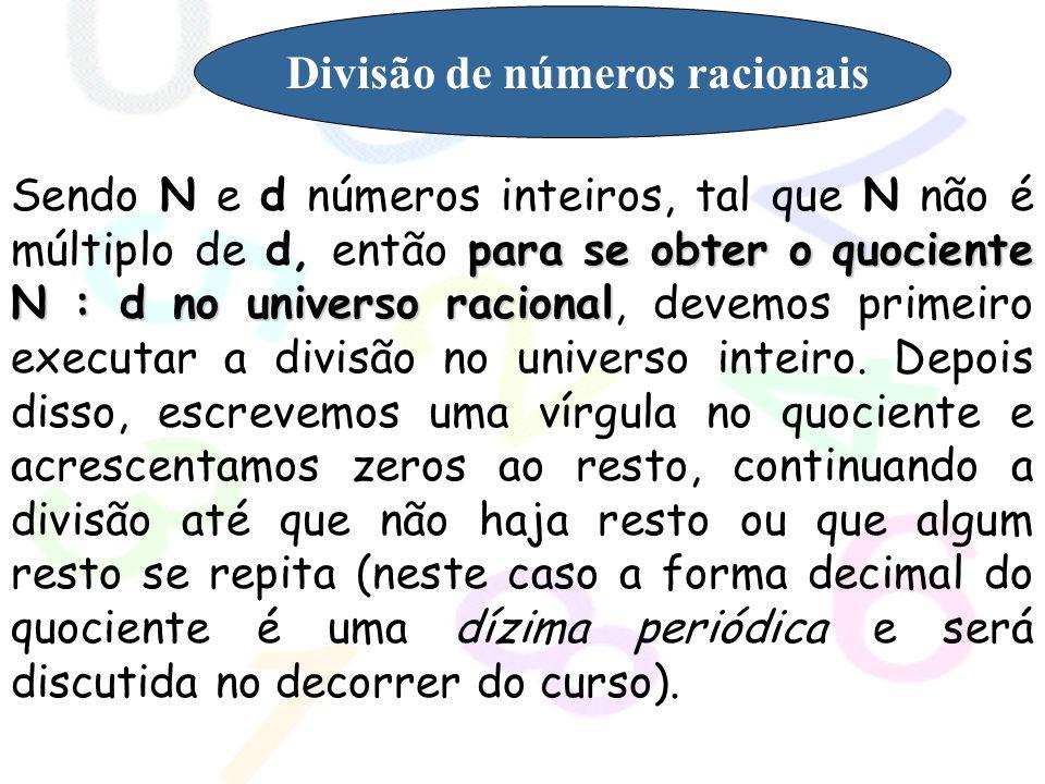 Divisão de números racionais