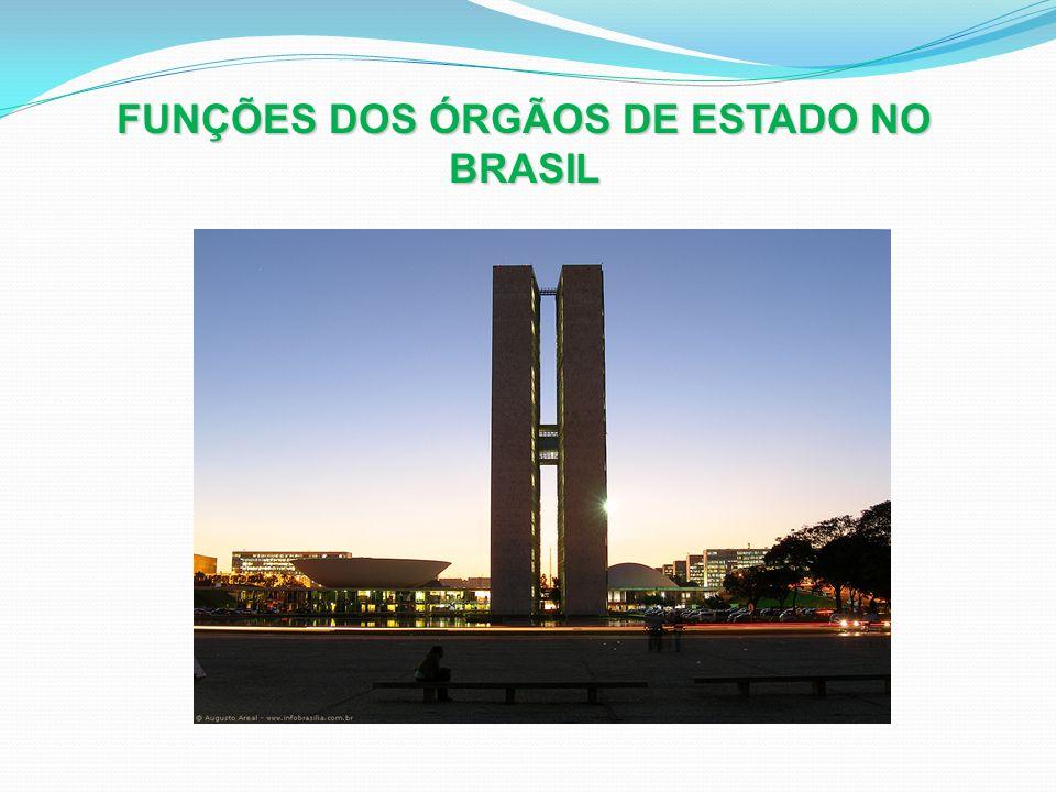 FUNÇÕES DOS ÓRGÃOS DE ESTADO NO BRASIL