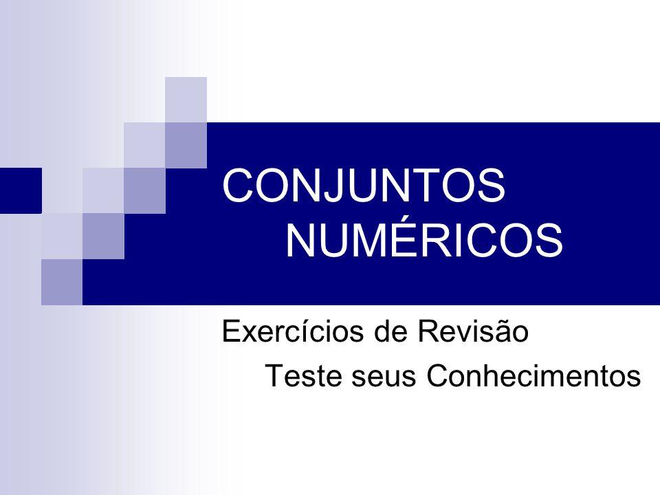 Exercícios de Revisão Teste seus Conhecimentos