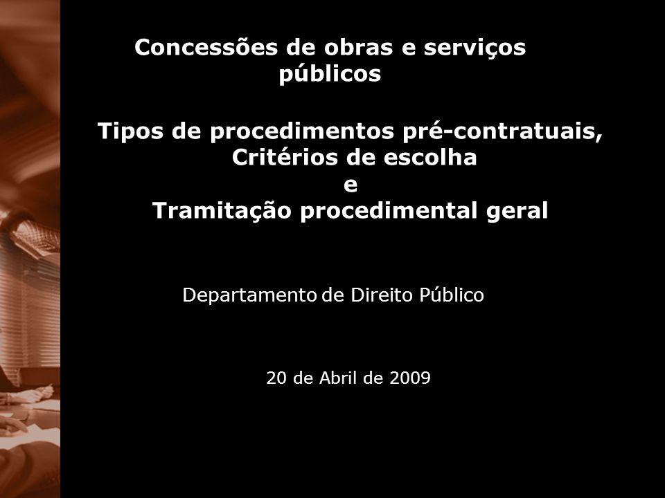 Concessões de obras e serviços públicos