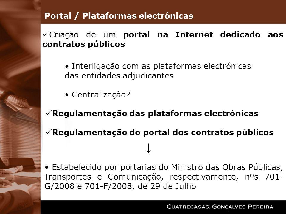↓ Portal / Plataformas electrónicas