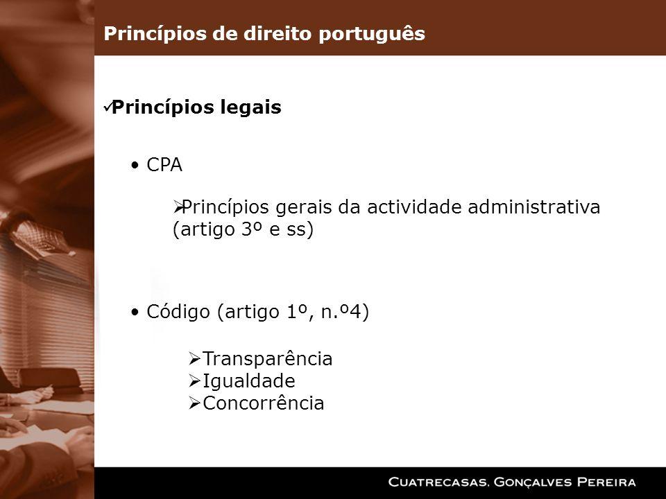 Princípios de direito português