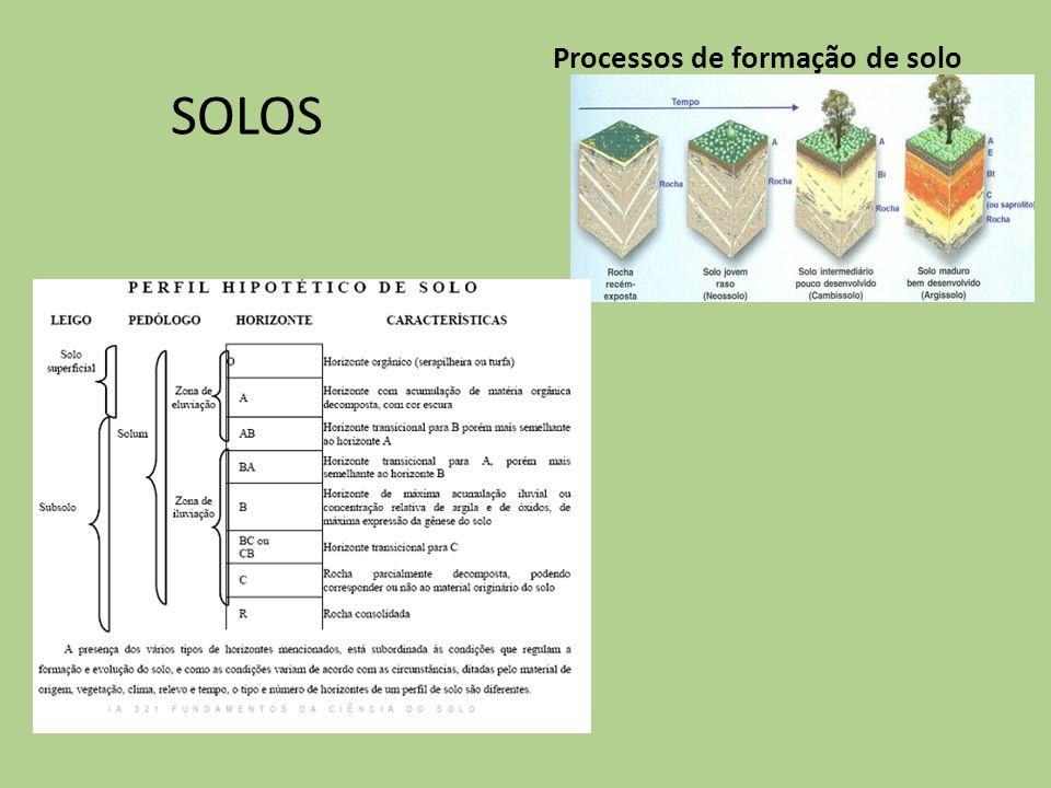 Processos de formação de solo