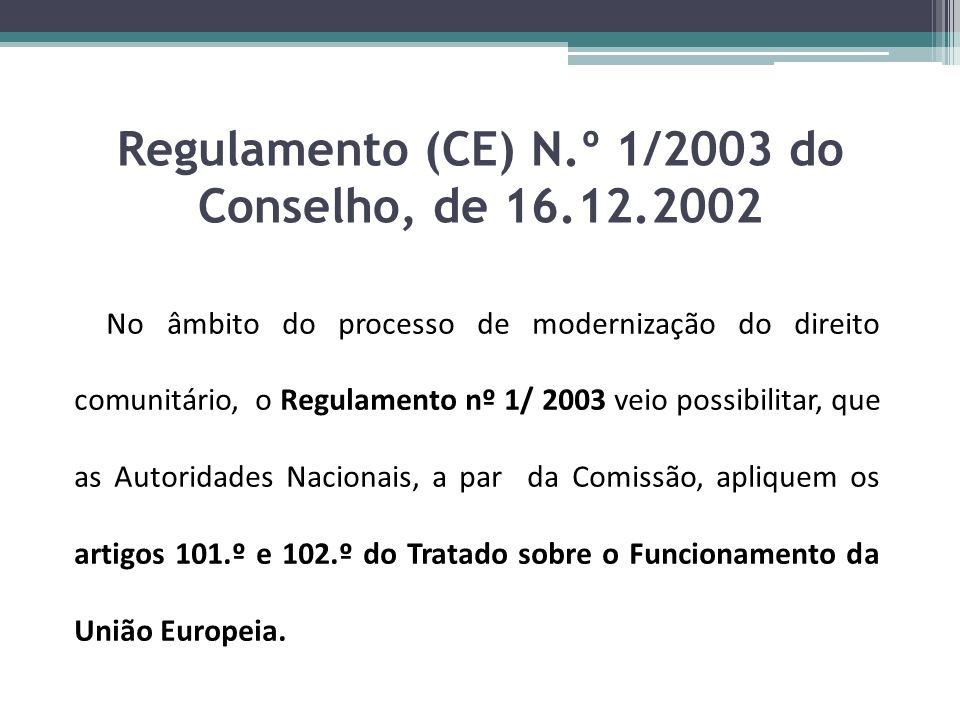 Regulamento (CE) N.º 1/2003 do Conselho, de 16.12.2002