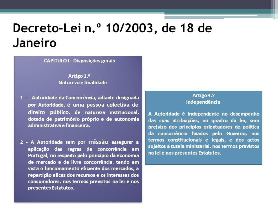 Decreto-Lei n.º 10/2003, de 18 de Janeiro