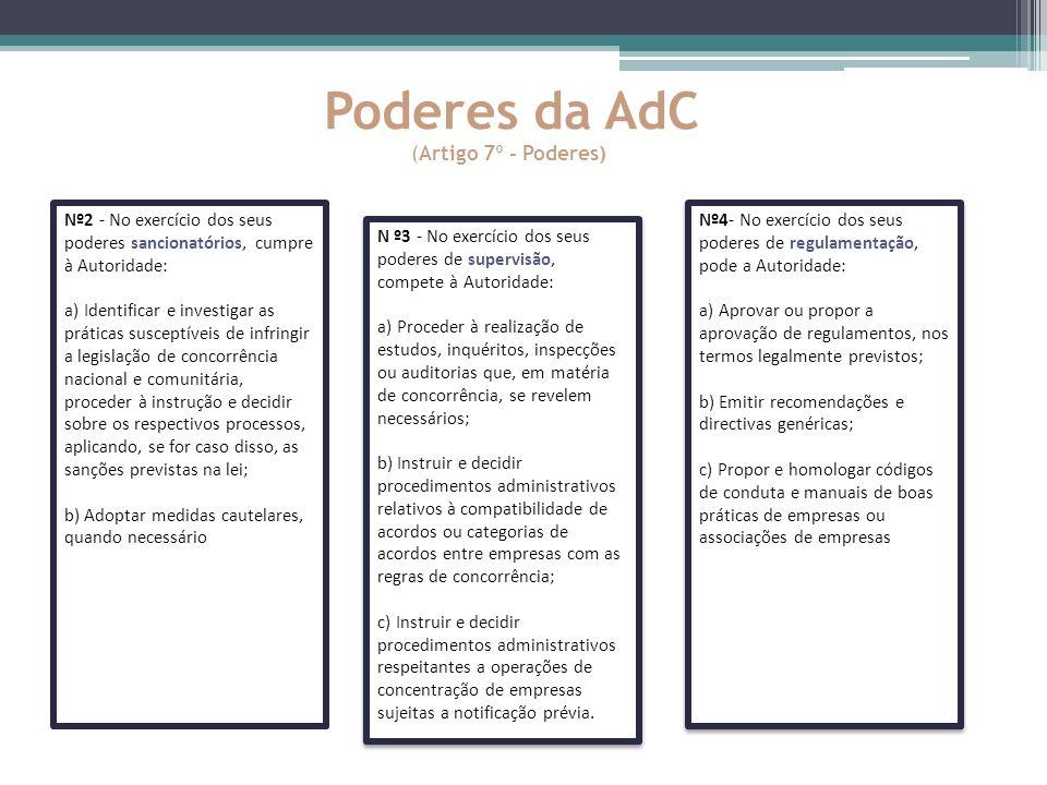 Poderes da AdC (Artigo 7º - Poderes)