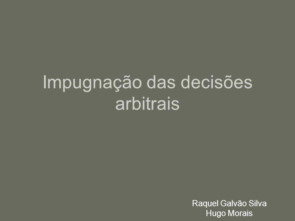 Impugnação das decisões arbitrais