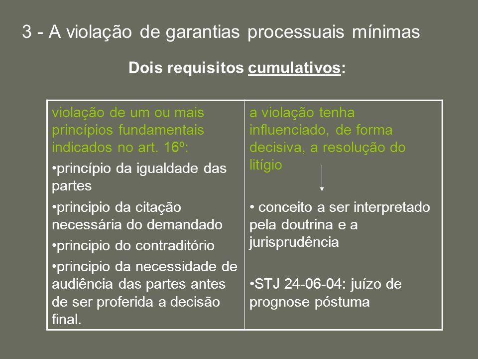 Dois requisitos cumulativos: