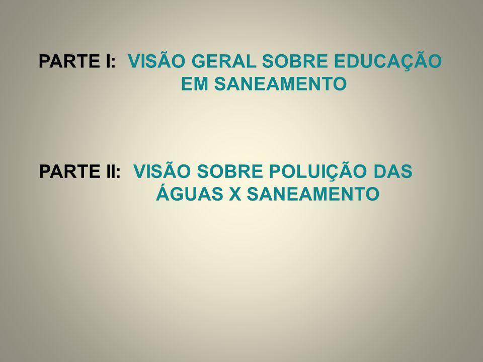 PARTE I: VISÃO GERAL SOBRE EDUCAÇÃO PARTE II: VISÃO SOBRE POLUIÇÃO DAS