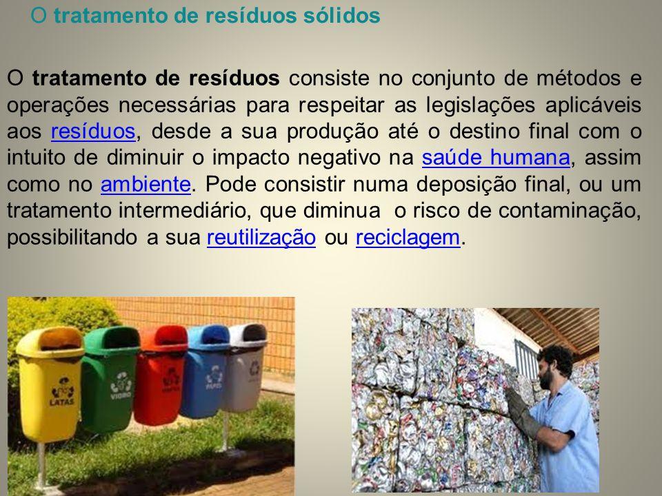 O tratamento de resíduos sólidos
