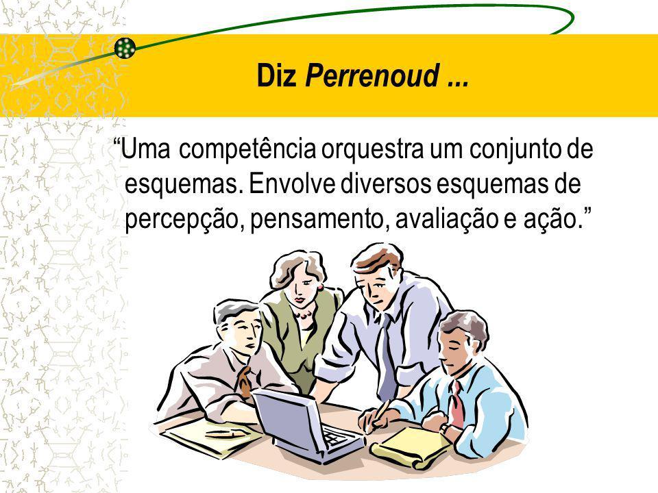Diz Perrenoud ... Uma competência orquestra um conjunto de esquemas.