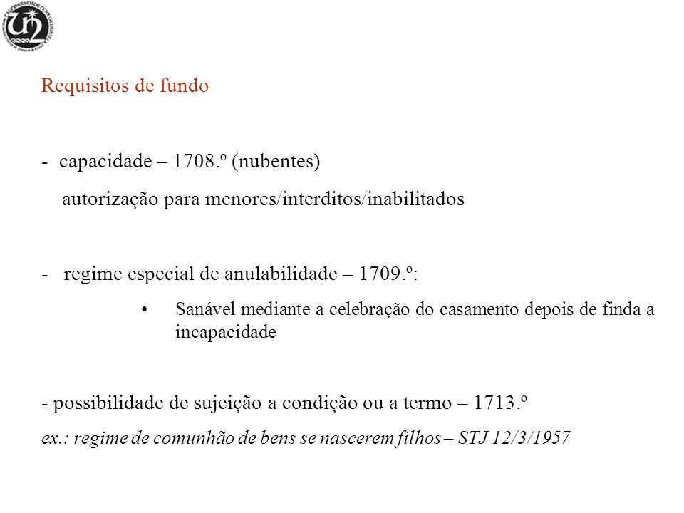 capacidade – 1708.º (nubentes)