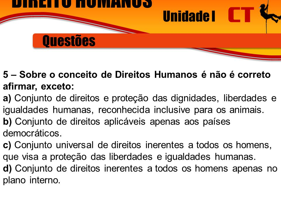 DIREITO HUMANOS Unidade I Questões