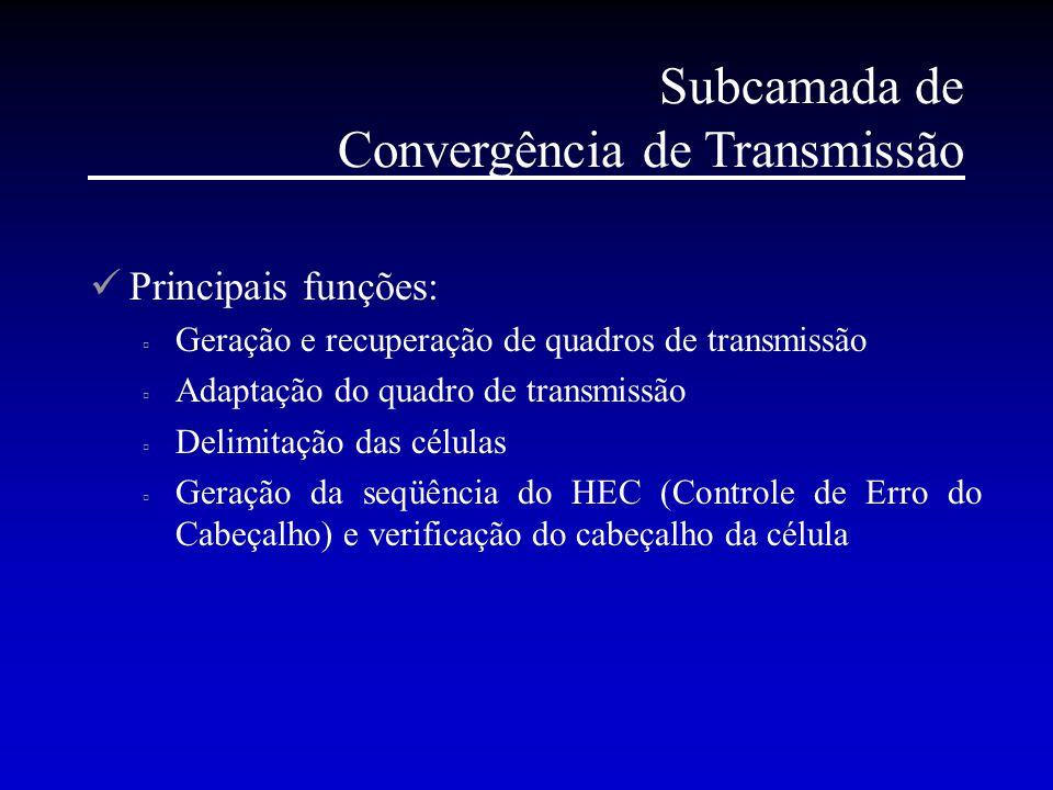Subcamada de Convergência de Transmissão