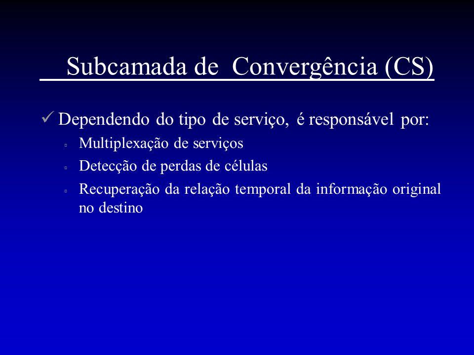 Subcamada de Convergência (CS)