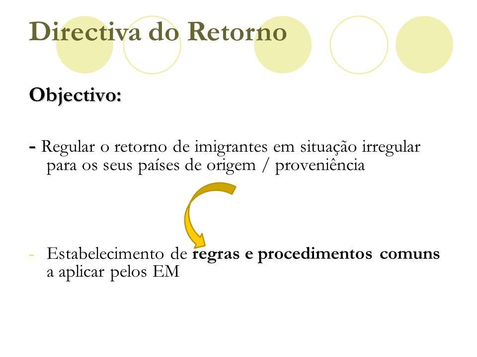 Directiva do Retorno Objectivo: