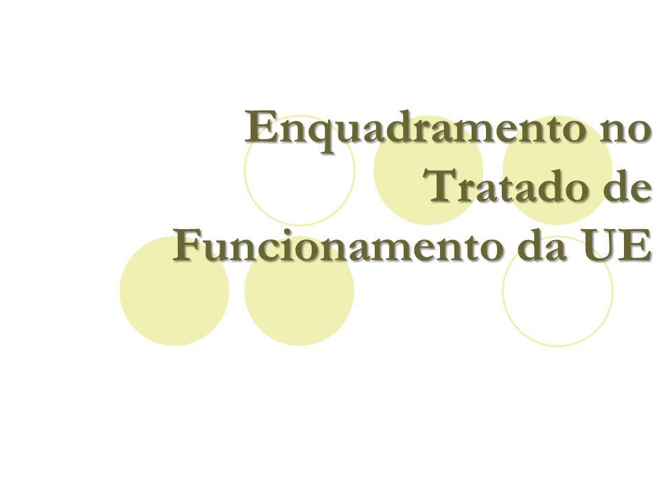 Enquadramento no Tratado de Funcionamento da UE