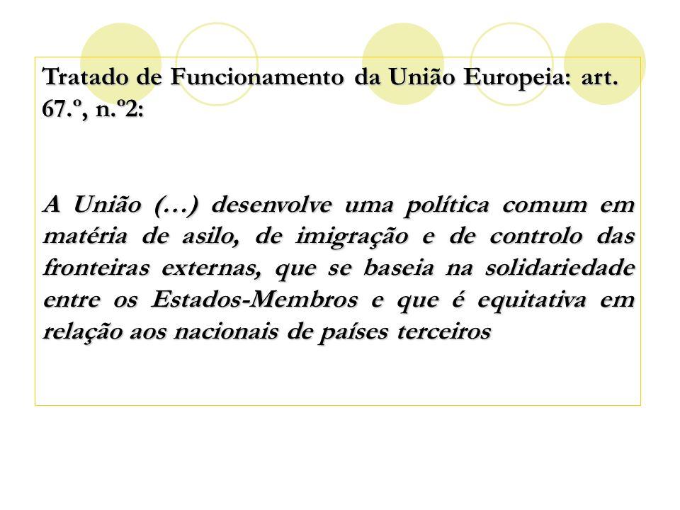 Tratado de Funcionamento da União Europeia: art. 67.º, n.º2:
