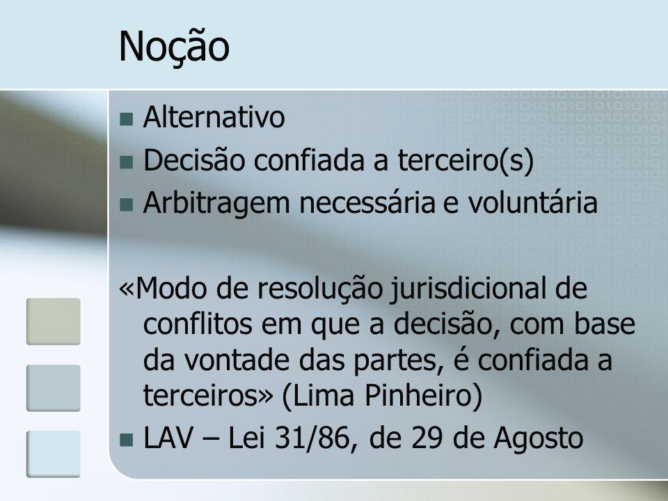 Noção Alternativo Decisão confiada a terceiro(s)
