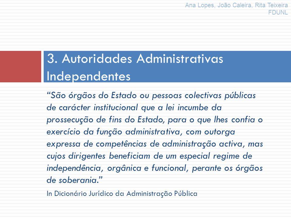 3. Autoridades Administrativas Independentes