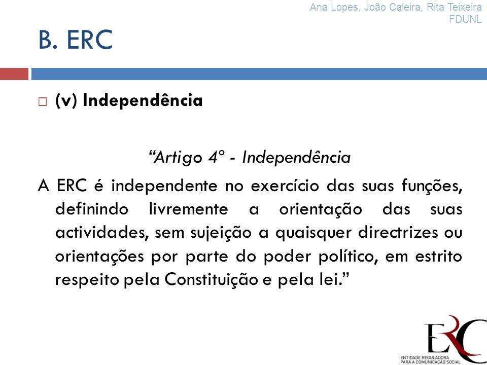Artigo 4º - Independência