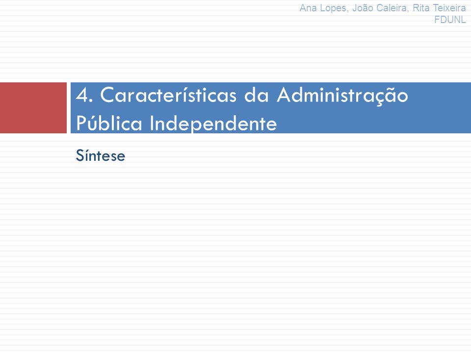 4. Características da Administração Pública Independente