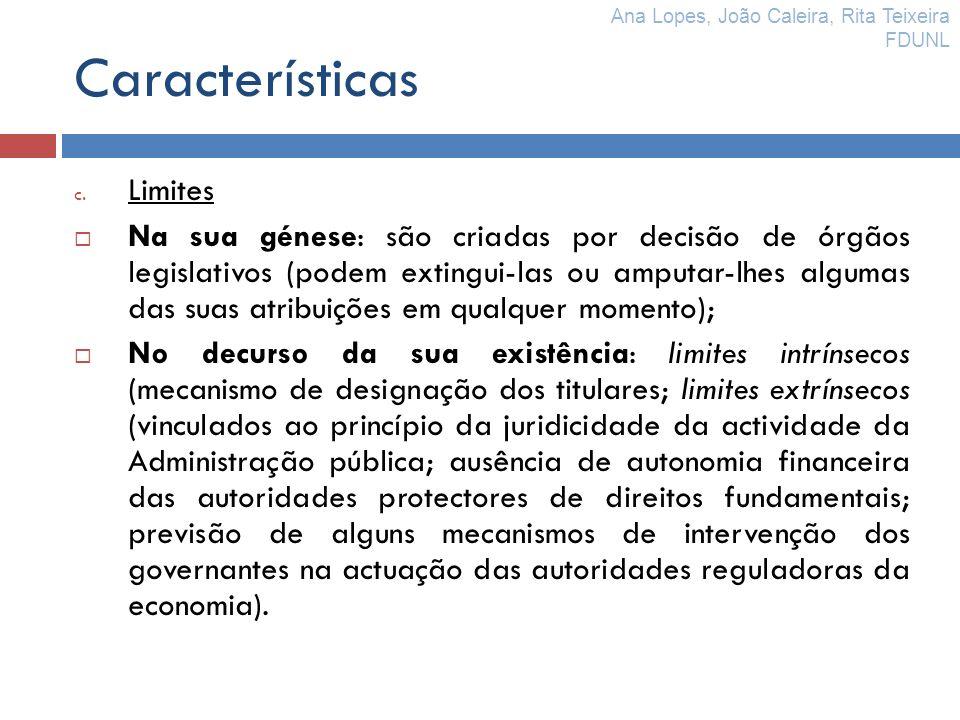 Características Limites