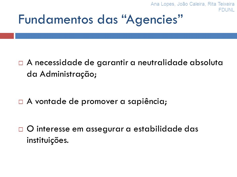 Fundamentos das Agencies