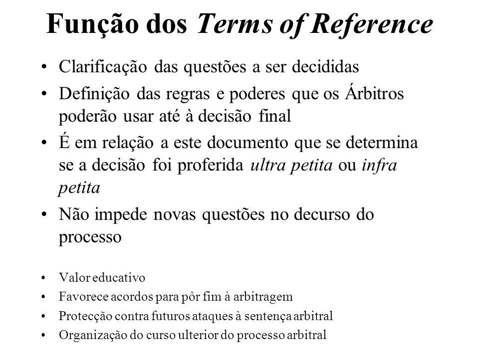 Função dos Terms of Reference