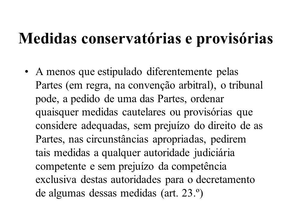 Medidas conservatórias e provisórias