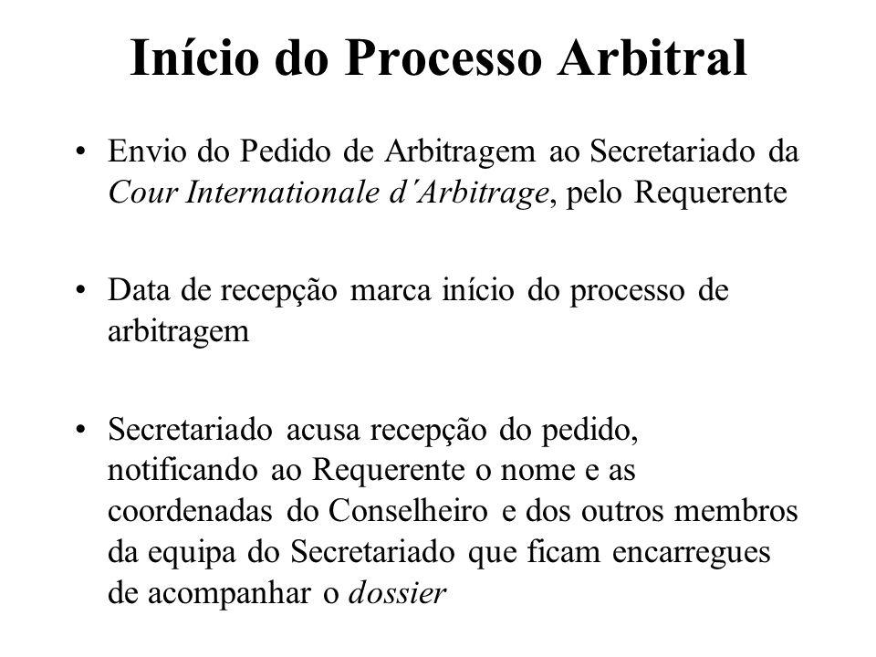 Início do Processo Arbitral