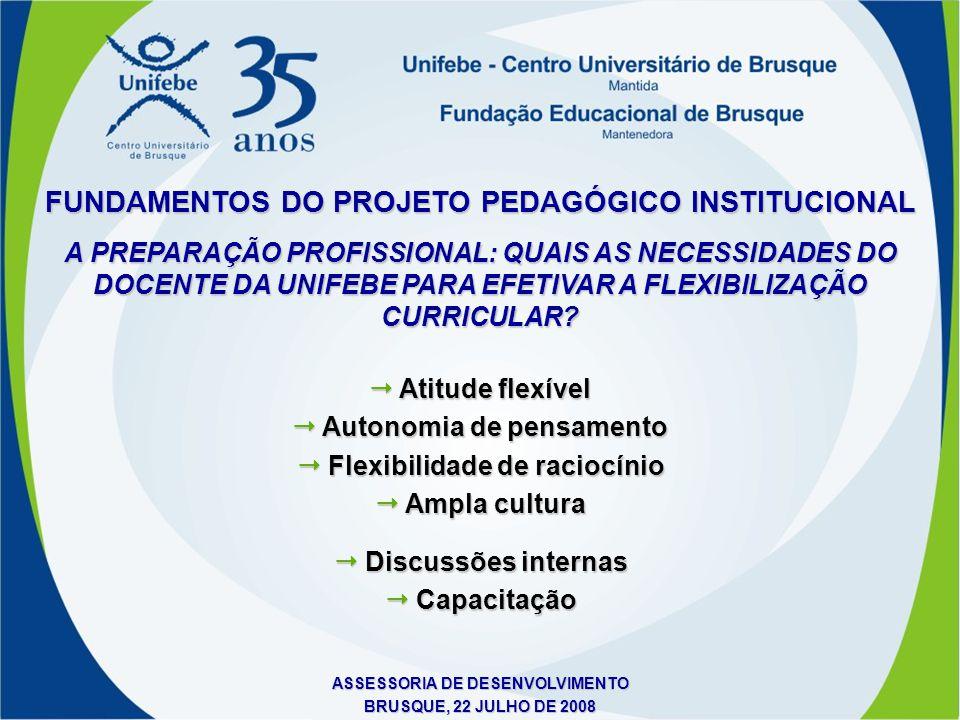 FUNDAMENTOS DO PROJETO PEDAGÓGICO INSTITUCIONAL