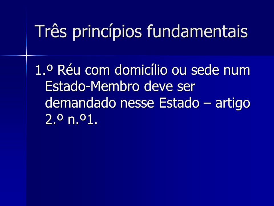 Três princípios fundamentais