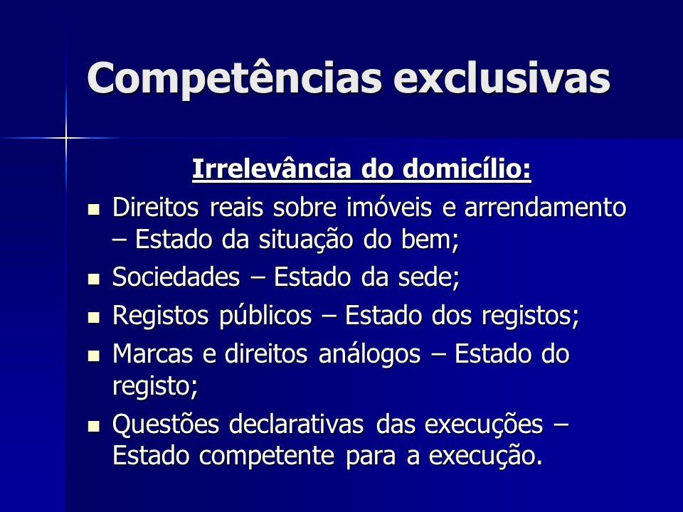 Competências exclusivas
