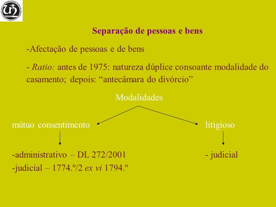 Separação de pessoas e bens