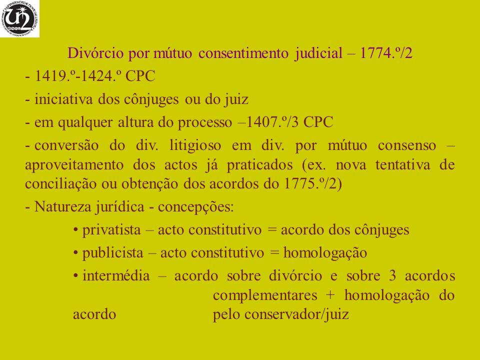 Divórcio por mútuo consentimento judicial – 1774.º/2
