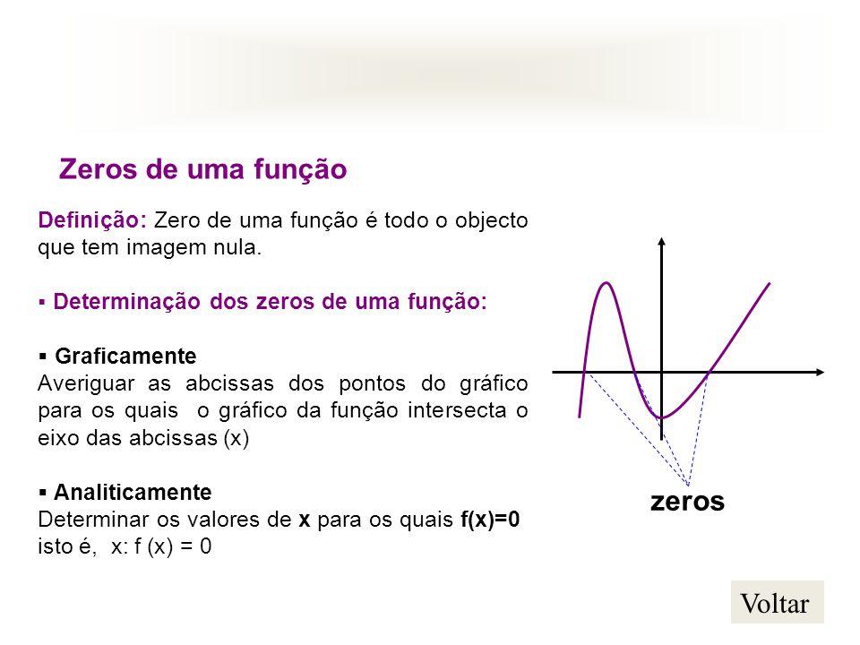 Zeros de uma função zeros Voltar