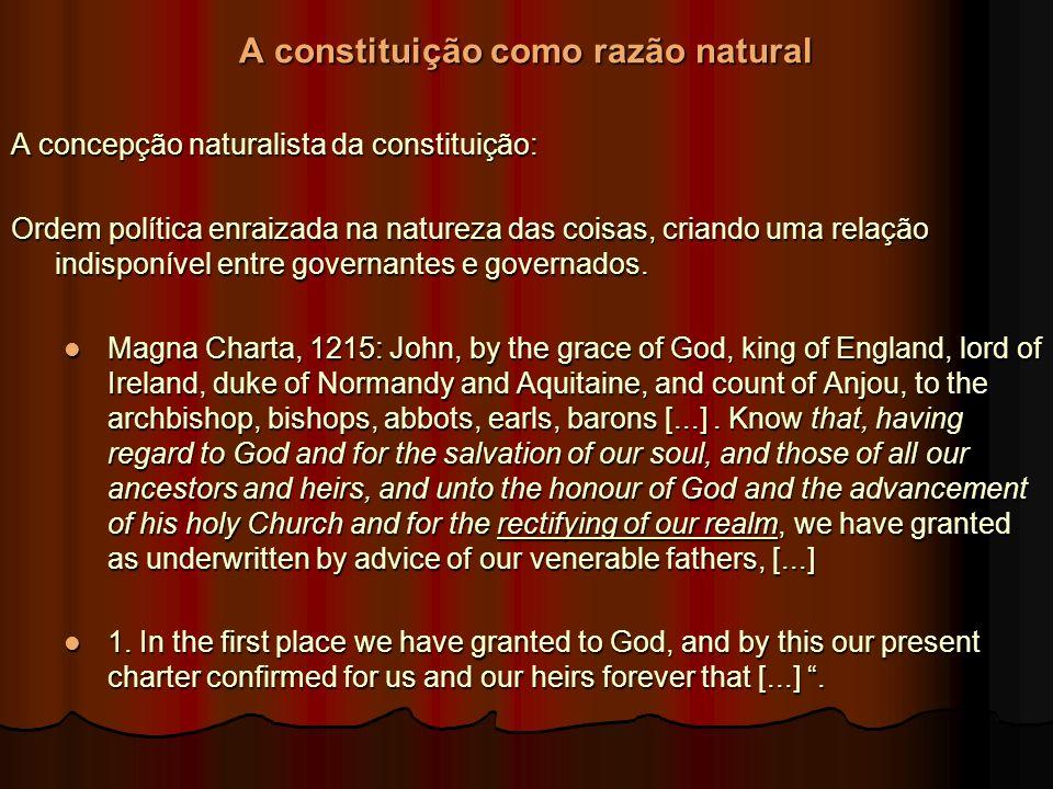 A constituição como razão natural