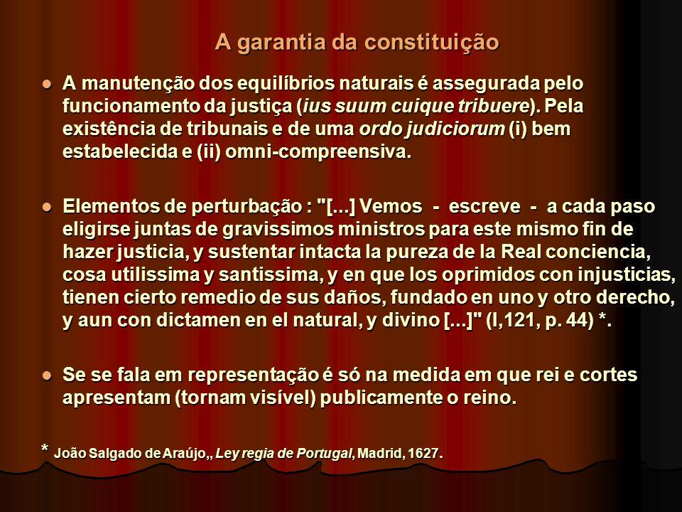 A garantia da constituição