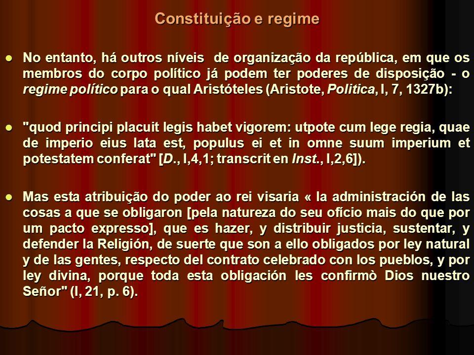 Constituição e regime