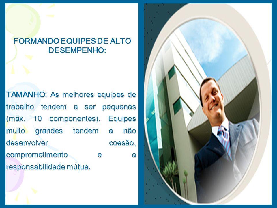 FORMANDO EQUIPES DE ALTO DESEMPENHO: