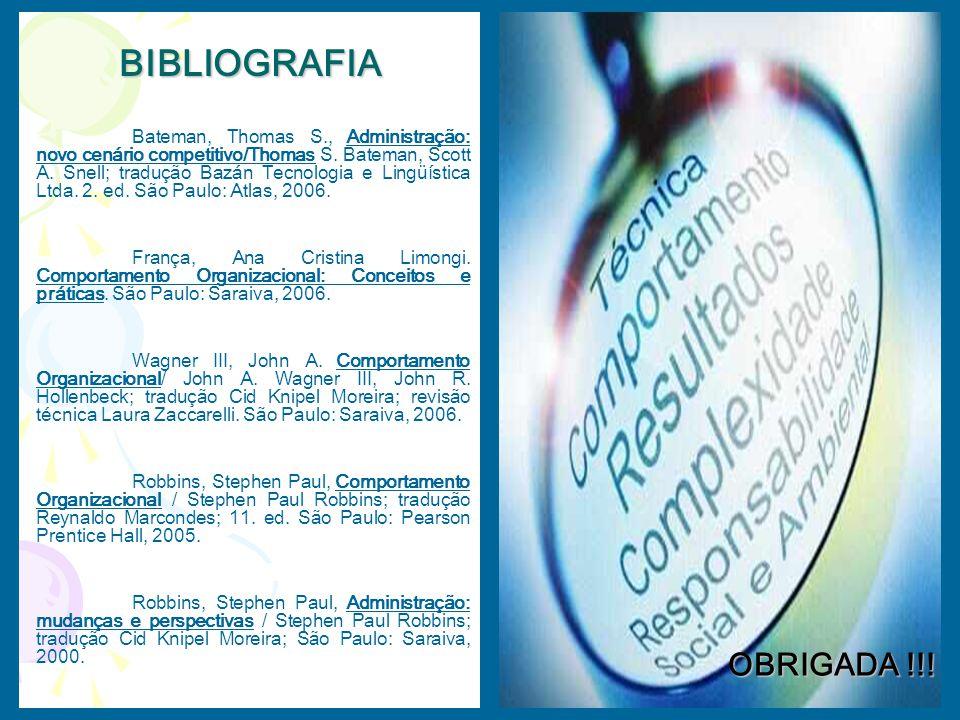 BIBLIOGRAFIA OBRIGADA !!!