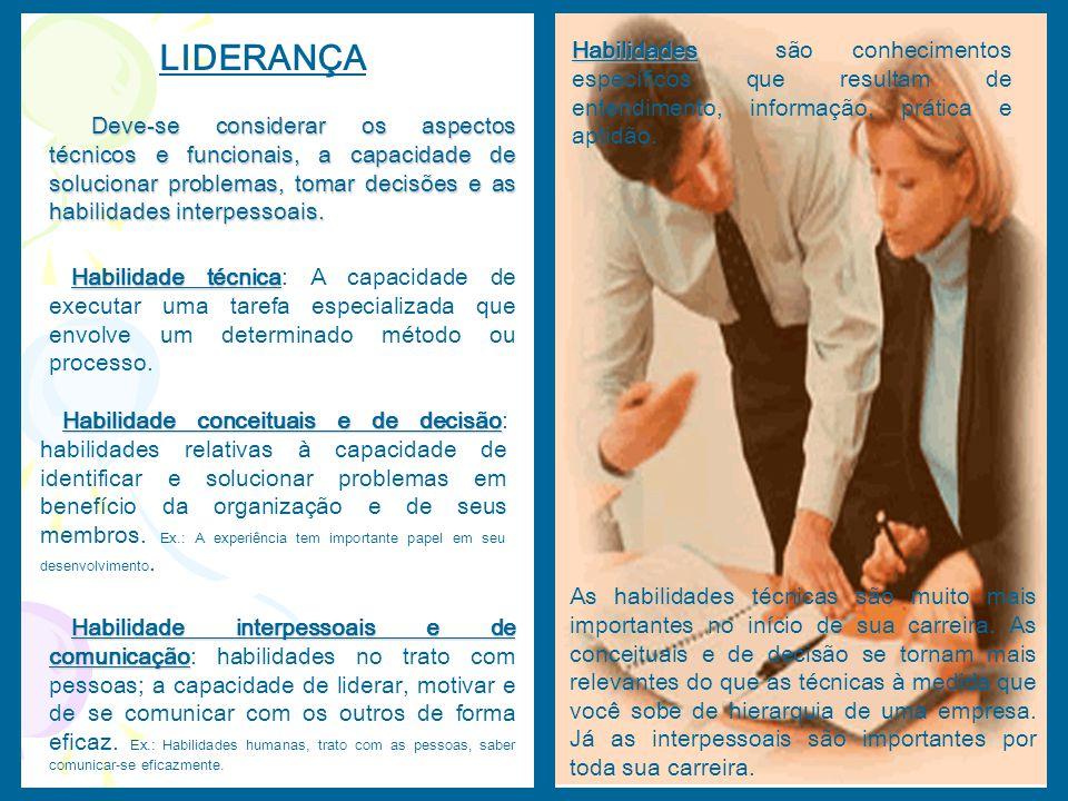 Habilidades são conhecimentos específicos que resultam de entendimento, informação, prática e aptidão.
