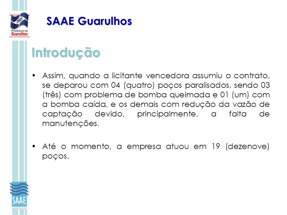Introdução SAAE Guarulhos