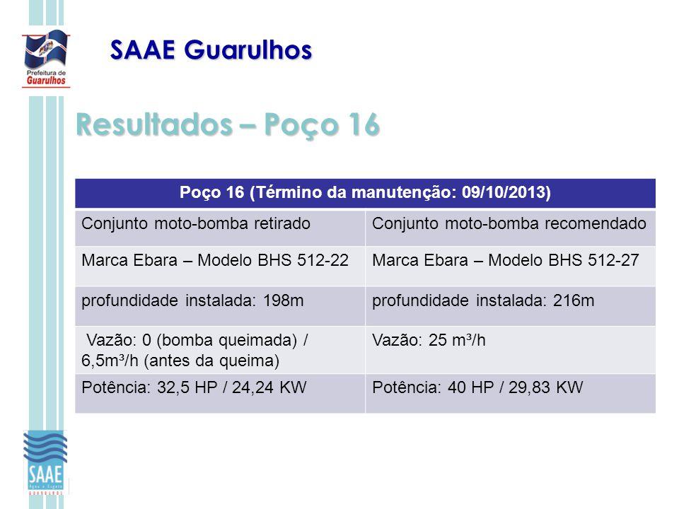 Poço 16 (Término da manutenção: 09/10/2013)