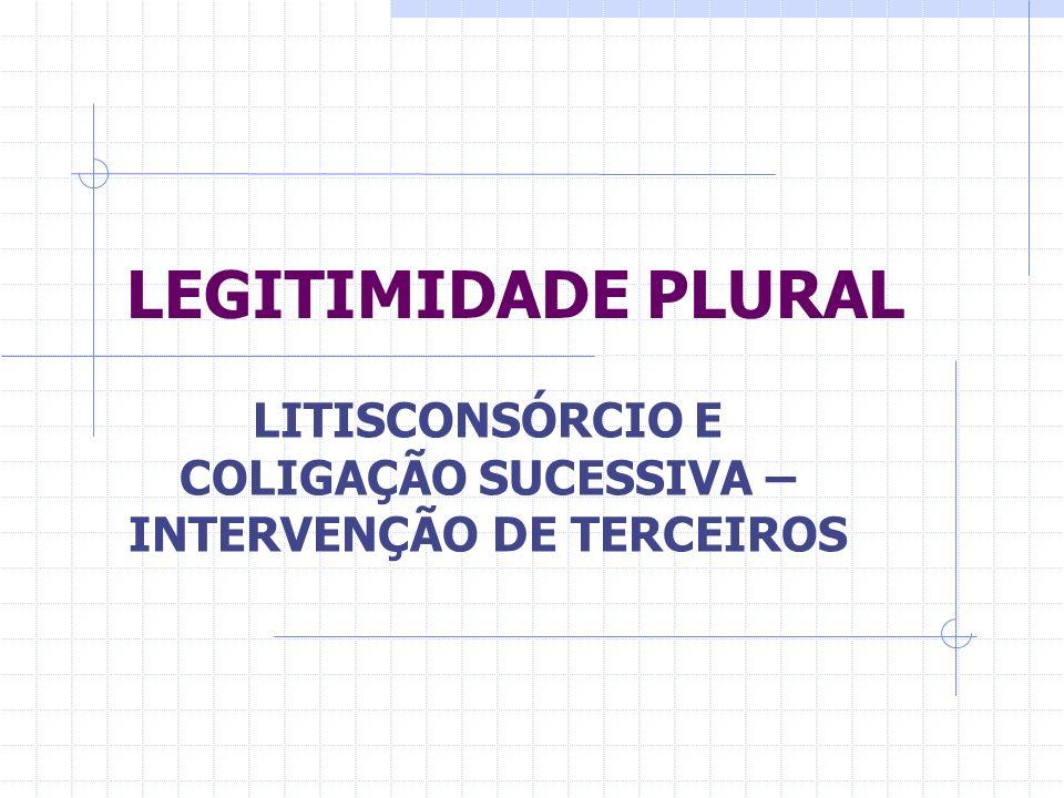 LITISCONSÓRCIO E COLIGAÇÃO SUCESSIVA – INTERVENÇÃO DE TERCEIROS