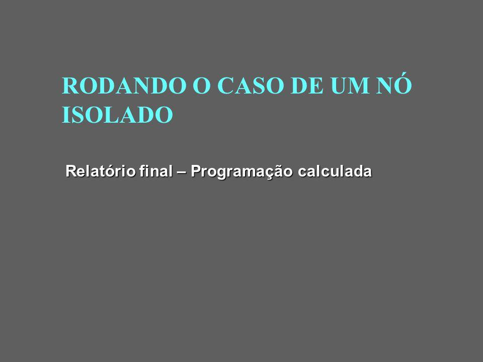 RODANDO O CASO DE UM NÓ ISOLADO