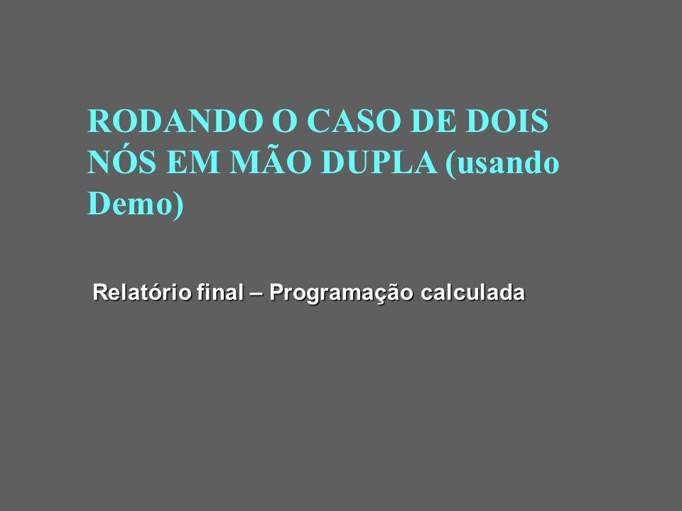 RODANDO O CASO DE DOIS NÓS EM MÃO DUPLA (usando Demo)