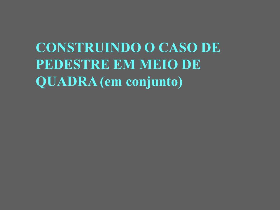 CONSTRUINDO O CASO DE PEDESTRE EM MEIO DE QUADRA (em conjunto)