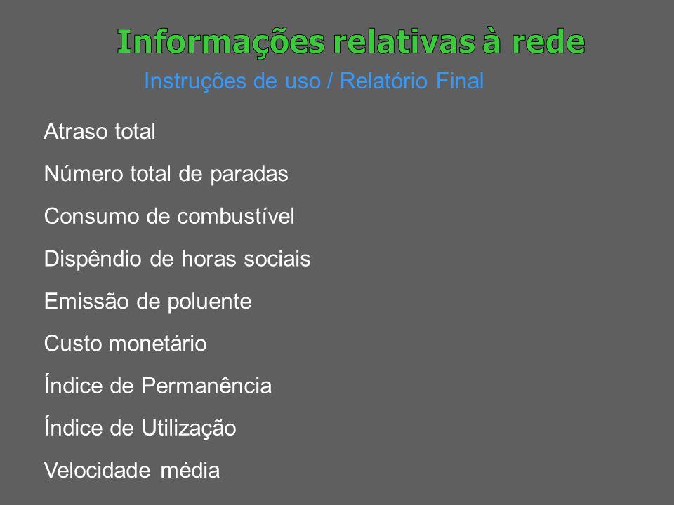 Informações relativas à rede